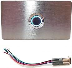 TronicXL Verlichte V2A roestvrij stalen belplaat belknop I Made in Germany I inbouw bel teken I met LED-verlichting I deur...