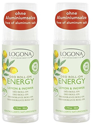 LOGONA ENERGY Deo Roll-on Lemon & Ingwer, 2 x 50ml