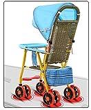 JKNMRL Cochecito Plegable/Carro para niños con toldo Ajustable y Bolsa de Almacenamiento