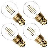 Ampoule Connectée WiFi, Ampoule Edison LED Compatible avec Alexa, Google Home et SmartThings, Blanc Chaud 2700K E27 Ampoule Dimmable à Filament (Équivalente 60W), Contrôle Vocal à Distance (4 Packs)