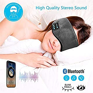 OUYAWEI Sale Bluetooth Sleeping Eye Mask Headphone Travel Sleeping Headphone Eye Mask Handsfree Music Sleep Eye Shades Built-in Speakers Microphone