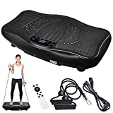 ReaseJoy Upgarded Body Vibration Power Plate Crazy Fitness Exercise Machine Oscillating Platform Magnet Foot Massage Bluetooth MP3 Speaker Blue