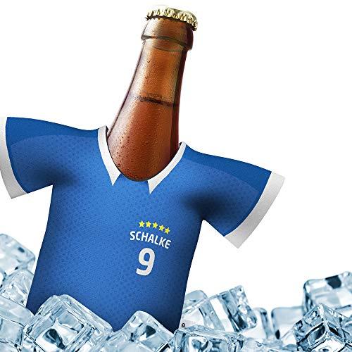 Fan-Trikot-kühler Home für Schalke 04 Fans | DRIBBEL-KÖNIG | 1x Trikot | Fußball Fanartikel Jersey Bierkühler by Ligakakao