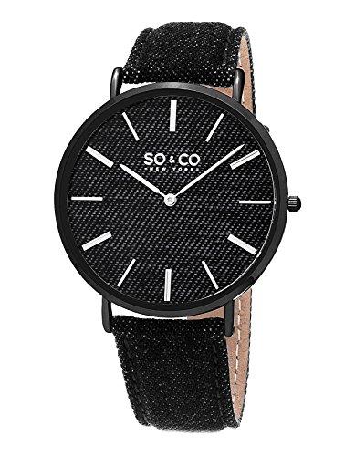SO & CO New York Reloj analógico para Unisex de Cuarzo con Correa en Piel 5103.4