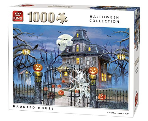 King 5723 Halloween Haunted House - Puzzle de 1000 Piezas, Color Blanco