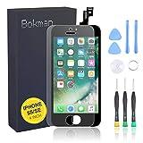 bokman Display Reparaturset kompatibel mit Schwarz iPhone 5s/SE (inkl. Glas, Retina LCD, Touchscreen), Passendes Profi-Werkzeugset enthalten