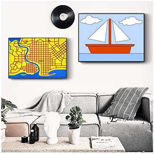 Simpsons Pop Art Leinwand Malerei Poster Und Drucke Für Wohnzimmer Keine Gerahmte Wandkunst Bild Home Decor Auf Sale-60x90cmx2pcs-Kein Rahmen