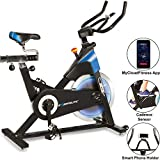 Exerpeutic LX 8.5 Indoor Cycling Exercise Bike with Bluetooth Smart Technology and Free MyCloudFitness App