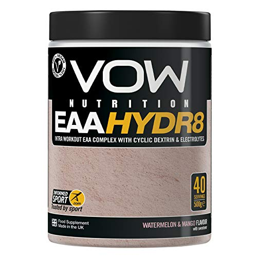 Vow EAA Hydr8 - Essential Amino Acids, Electrolytes, BCAAs, Cyclic Dextrin Intra Workout Drink Informed Sports (Watermelon and Mango)