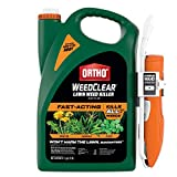 Ortho WeedClear Lawn Weed Killer Ready to Use - with Comfort Wand, Weed Killer for Lawns, Crabgrass Killer, Also Kills Chickweed, Dandelion, Clover & More, Fast Acting Weed Killer Spray, 1.1 gal.