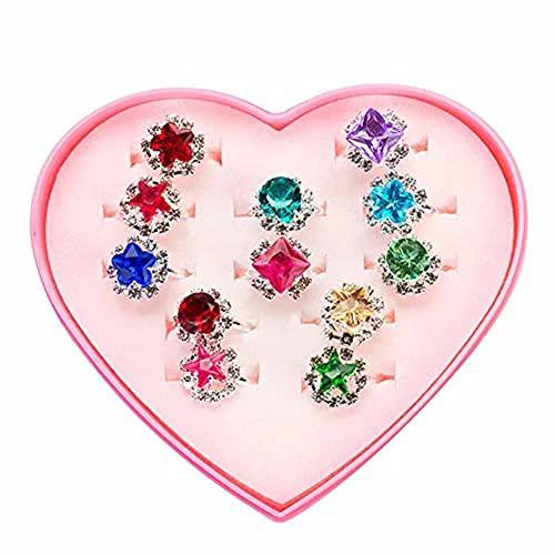 指輪 ドレス 子供 女用 おもちゃ 子供 あくせさりー セット 宝石 おもちゃ 女 の オモチャ 子供 指輪 おもちゃ 指輪 子供用 指輪 子供服 女の子 ジュエリーボックス 女の子 プレゼント 箱に12個入り