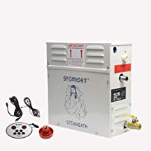 Hanchen 18KW Steam Generator for Shower, Sauna Bath, Home Spa, Swimming Pools Automatic Heat Preservation Steamer 35-55℃ for Room Within 10m³ Valve Pressure 15KG/CM2 28A Timer:30min to 12Hours 380V CE