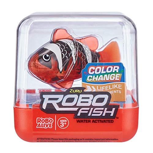 Robo Alive 7141B-S001 Robo Robotic Swimming Fish 2 Pack, Red & Blue