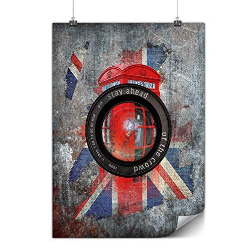 Wellcoda Vereinigtes Königreich Flagge Bild Plakat GB A4 (30cm x 21cm) Glänzend schweres Papier, Perfekt für die Gestaltung, Einfach zu hängen Kunst