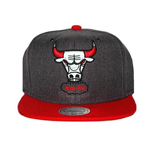 Mitchell & Ness NBA Chicago Bulls Casquette UNIQUE, bleu gris rouge