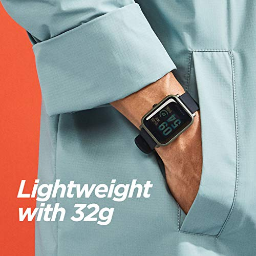Amazfit Bip Smartwatch, Allday Heart Rate and Activity Tracking, 5.4 lb