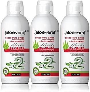 ZUCCARI SUCCO Puro D'Aloe con Antiossidanti - 3 Pezzi da 1 L
