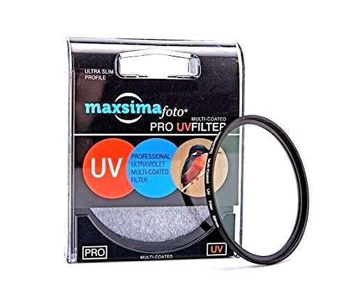 Filtro protector UV Maxsimafoto 55mm compatible con Sony, 18-55mm, 18-70mm, 55-200mm, 75-300mm,...