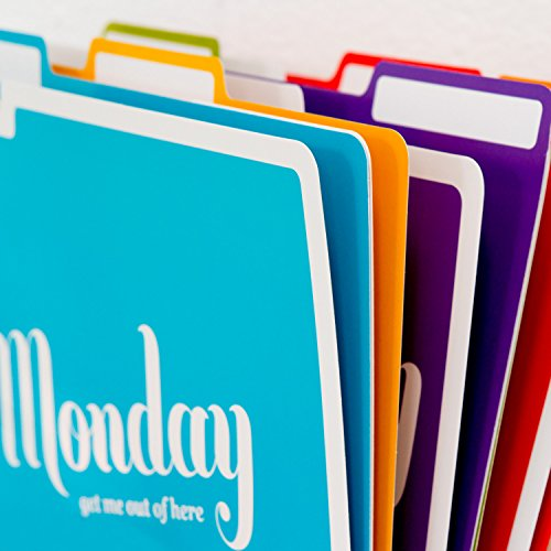 Knock Knock Days of the Week File Folders Set, Daily / Weekly Organizer Files (Set of 6, 11.5 x 9-inches) Photo #12