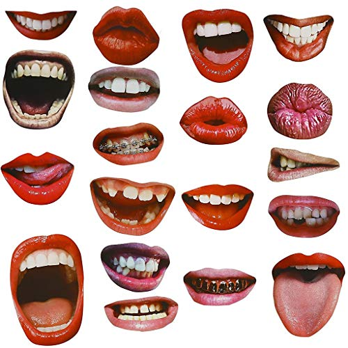 Kitchen wall stickersNEW Various styles Funny Mouth Stickers For Face masks Suitable For everyone