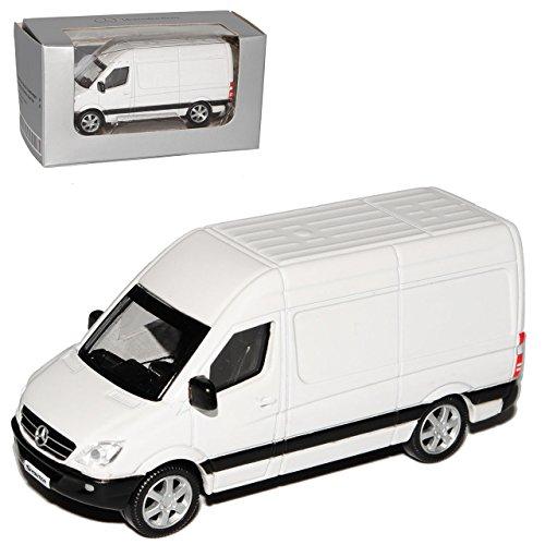Norev Mercedes-Benz Sprinter W906 Kasten Transporter Weiss Modell 2006 Ab Facelift 2013 1/64 Modell Auto mit individiuellem Wunschkennzeichen