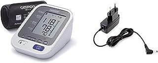OMRON M6 Comfort - Monitor de presión arterial automático de braz, memoria de hasta 200 mediciones + Adaptador de corriente AC para tensiómetro