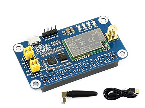 IBest SX1262 868M Lora Hat Board for Raspberry Pi/Arduino/STM32,Spread Spectrum Modulation Covers 868MHz Frequency Band Support Data Transmission up to 5km Via Serial Port