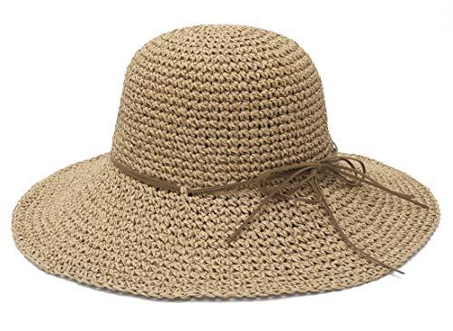 EOZY Sombrero de Paja Mujer Plegable Bohemia Sun Floppy Mujer Sombrero de...