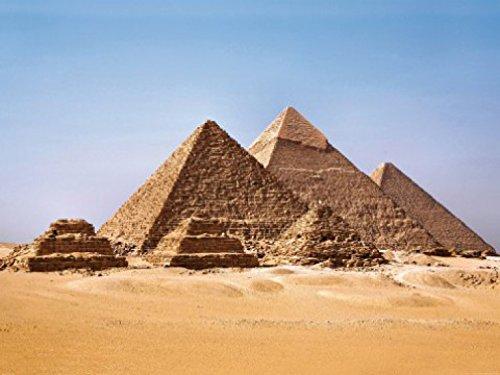 1art1 Ägypten - Die Pyramiden Von Gizeh, 2-Teilig Fototapete Poster-Tapete 240 x 180 cm