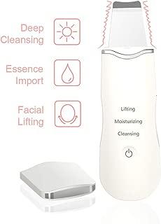 Ultrasonic USB Rechargeable Deep Cleaning Skin Scrubber, Facial Beauty Machine, Blackhead Acne Dead Skin Fade Spots Remover