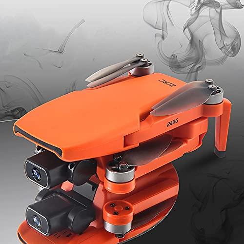 Drone FPV GPS pieghevole con fotocamera 4K per adulti Quadricottero RC con GPS, motore brushless, seguimi, ritorno automatico a casa, doppia fotocamera, posizione del flusso ottico (gialle)
