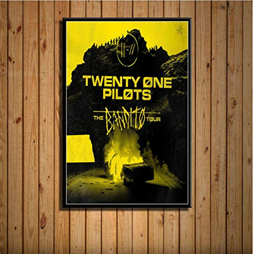 Twenty One Pilots Trench Coats en regenjassen voor fotoalbum, warme muziek, zanger, Star Art Painting Silk Canvas Wall Poster, Home Decoratie, 40 x 50 cm