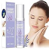 Kissenspray,Sleep Spray,Lavendelspray, Raumduft mit natürlichen ätherischen Ätherisches Öl Lavendel-Raumspray & Kissenspray für Entspannung und erholsamen Schlaf Einschlafen mit Lavendelöl