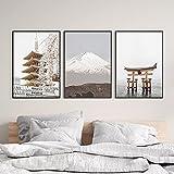 ImpresióN De Arte De Viaje Con Vista De La Ciudad De JapóN, PóSter De FotografíA De...