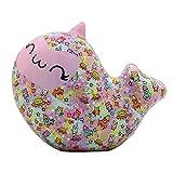 Carnavalife Squishy Kawaii Juguetes Pegajoso de Silicona Animales, Muñeca de Antiestrés de Mano Dedo para Niños y Adultos (Delfín)