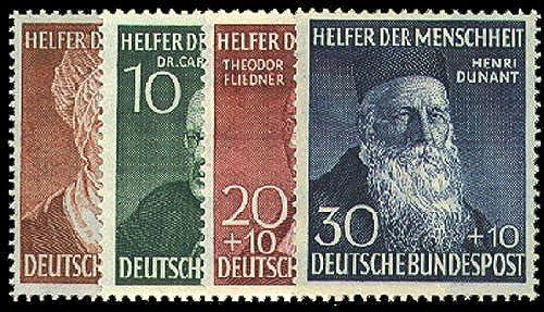 Goldhahn BRD Nr. 156-159 postfrisch  Wohlfahrt 1952 geprüft Schlegel Briefmarken für Sammler
