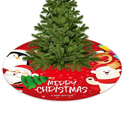 Comie Weihnachtsbaum Baumröcke Weihnachtsbaumdecke Rock Plüsche Weiche Decke Teppich Weihnachtsdeko für Runde Form Schneeflocke Plüsch Abdeckung Verzierung Bodendekoration Deko