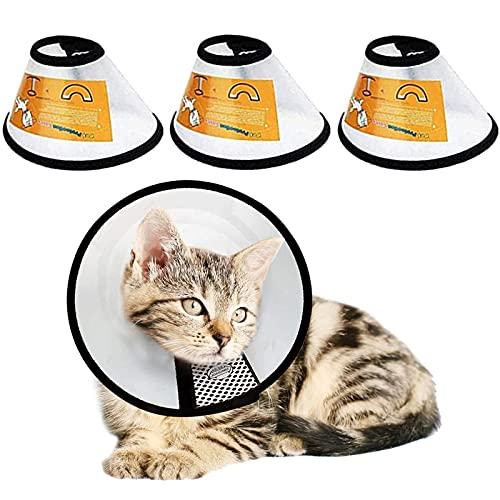 LeapBeast Conos de Recuperación para Mascotas, Collarines para Curar Heridas, Cuello Protector Cono de plástico Protección Especial para Gatos Perros (XS (17-20CM))