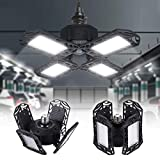 LEDシーリングライト ガレージライト 4灯式 100W 10000lm 昼白色 6500K ペンダントライト 天井照明 ダイニング 折りたたみ式 工事不要 角度調節可能 省エネ 高輝度 6 8 10畳 対応