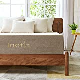 Inofia Twin Mattress Latex Foam, 11 Inch Bed Mattress with Linen Cover, ECOTURE Mattress in a Box, Ventilated Design | Sleeps Cooler, 3 Layer Support System, Medium Firm, 100-night Home Trial