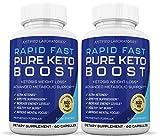 Rapid Fast Pure Keto Boost Pills Advanced BHB Ketogenic Supplement Exogenous Ketones Ketosis for Men Women 60 Capsules 2 Bottles