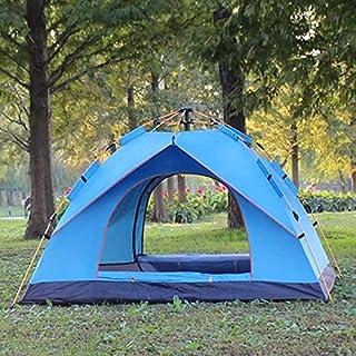 Vattentätt campingtält för 3-4 personer automatiskt pop-up snabbt skydd utomhus resor vandring bärbart tält