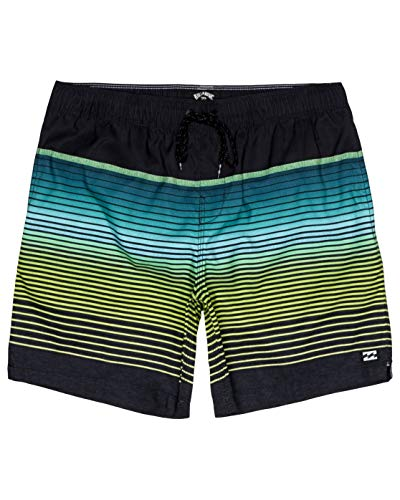BILLABONG All Day Stripe LB Pantalones Cortos para Nadar y Surfear, Hombre, Negro (Black), S