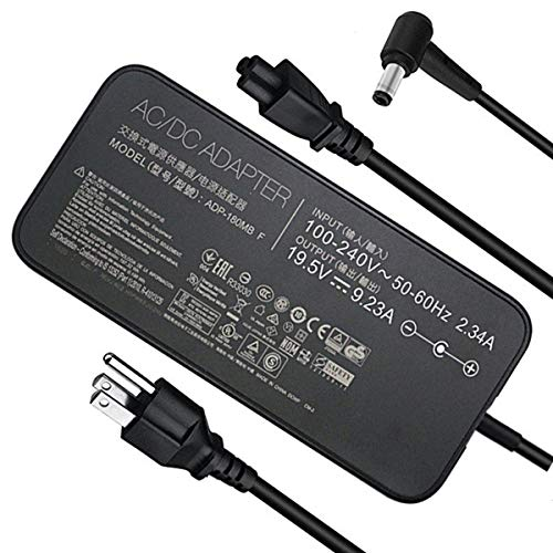 New Slim 19.5V 9.23A 180W Laptop Charger for Asus ROG G750JM G751JM G750JS G75 G75VW G75VX GL502VT G750JW G750JM G750JX G751JL G751JM G752VL ADP-180MB F FA180PM111 G-Series Gaming Laptop