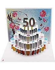 Forever Cards, Tarjeta de cumpleaños con corte láser Pop150 cumpleaños