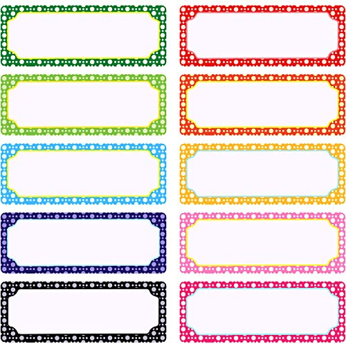 50 Pieces Magnetic Name Plates Dry Erase Labels White Board Nameplates Name Tags Stickers for School Home Office and Classrooms, 3 x 1.2 Inch, 10 Colors