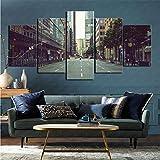 Impresión de imágenes 5 Piezas de decoración de Arte del hogar de Frankfurt Artificial 50x100cm (sin Marco)