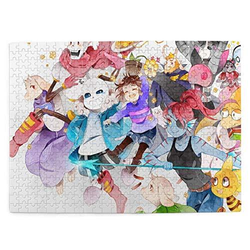 yushan Undertale Picture Puzzle 500 Stück für Erwachsene & Kinder Kindergeschenke Dekorationen Stressabbau Lernspielzeug Puzzle aus reinem Holz