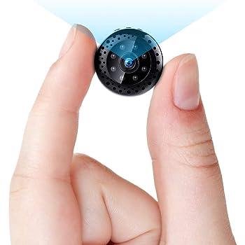 FREDI 超小型WiFi隠しカメラ 1080P超高画質ネットワークミニカメラ リアルタイム遠隔監視 WiFi対応防犯監視カメラ 動体検知暗視機能 iOS/Android/iPad遠隔監視・操作可能 長時間録画録音 日本語取扱