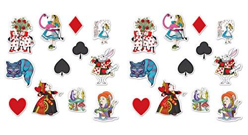 Beistle Alice im Wunderland Ausgeschnittene Figuren Alice In Wonderland Cutouts Bunt